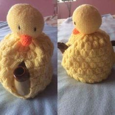 Hand Knitted with acrylic wool. Cute chick tea pot cosy. Tea pot not included. Perfect for Easter.