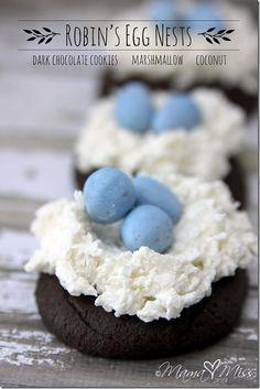 Robin's Egg Nests #birdsnestcookies #easter http://www.mamamiss.com ©2013