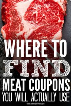Where to find meat coupons - Best places to find coupons for meat Reduce your grocery budget by learning where to find meat coupons. Save money on meat when you know the best places to find coupons for meat. Try these meat coupons today! Best Money Saving Tips, Money Saving Meals, Save Money On Groceries, Money Tips, Groceries Budget, Money Budget, Money Savers, Extreme Couponing Tips, How To Start Couponing