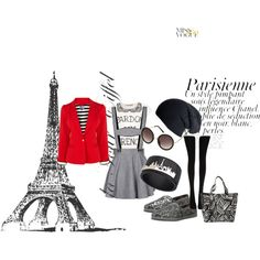 """Paris Wannabe!"" by rea-jain on Polyvore"