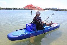 SATURN 11' Pro Angler Inflatable Fishing SUP Paddle Board FSUP330