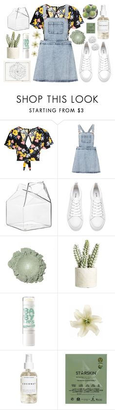 """""""~sleeping with my sweater~"""" by glitteredxkylie ❤ liked on Polyvore featuring Topshop, CB2, H&M, Allstate Floral, Clips, Herbivore, Starskin and Brinkhaus"""