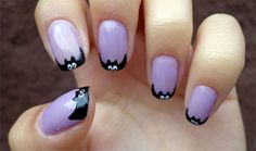 10 Simple Halloween Nail Art Designs Ideas For Girls 2014 | French Manicure