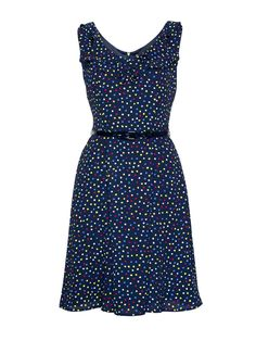 Margo Spot Dress | Review Australia Review Dresses, Women's Dresses, Blue Dresses, Fashion Dresses, Church Outfits, Office Outfits, Royal Clothing, Review Fashion, Vintage Inspired Dresses