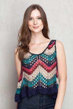 cropped rendada mix tapeçaria - Blusas | Dress to