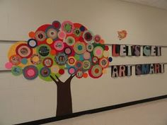 Cute way to display students' beginning of the year picture inside the circles!