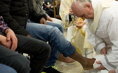 While popes have for centuries washed the feet of the faithful on the day before Good Friday, never before had a pontiff washed the feet of a woman. That one of the female inmates at the prison in Rome was also a Serbian Muslim was also a break with tradition.