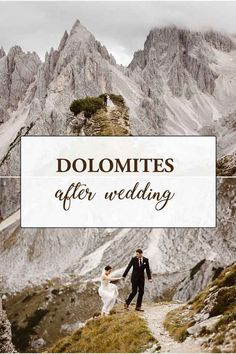 This hiking after wedding in the Dolomites is absolutely epic! Rachel and Brendan spent their honeymoon in the Dolomites and decided to make it count: they hiked for an epic after wedding shoot around one of the most beautiful mountains on earth! Honeymoon Inspiration, Elopement Inspiration, Wedding Photoshoot, Wedding Shoot, Go Hiking, Scenery, Tours, Adventure, Destination Weddings
