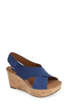 Clarks® 'Caslynn Shae' Wedge Sandal (Women) available at #Nordstrom