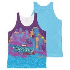Guardians of the Galaxy Vol. 2   Rock Stars All-Over-Print Tank Top   Marvel Comics Tank Tops For Teens and For Women   Marvel Fans