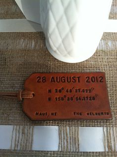 Tie on your luggage tag, this destination #wedding #invite will sweep you away! #EventSpark