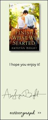 """Authorgraph from Amylynn Bright for """"Finish What We Started"""""""
