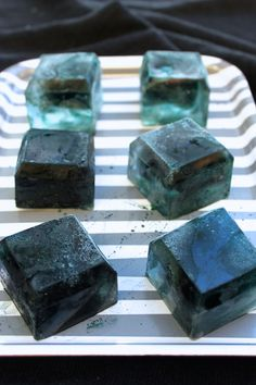 Black Ice Cubes for a Black Licorice Cocktail | Camille Styles