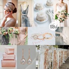 Inspiration Board: Dove Grey & Rose Gold | SouthBound Bride