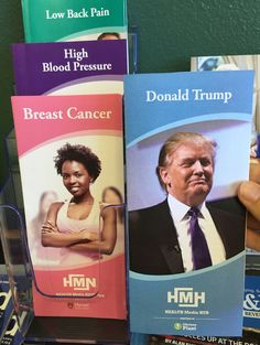 obviousplant: I added this fake health brochure about Donald Trump to a doctor's waiting room