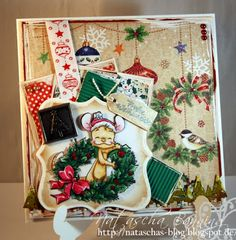 Whiff of Joy Henry on a Christmas card. Love this papers and colors
