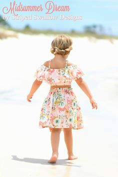 Midsummer Dream PDF Sewing Pattern ... Sizes 2T-14yrs Cute Girl Outfits, Little Girl Dresses, Kids Outfits, Toddler Outfits, Toddler Girls, Girls Dresses, Kids Patterns, Pdf Sewing Patterns, Midsummer Dream