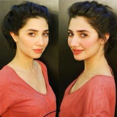 Such a gorgeous natural-looking out-from-the-cold kind of a blush and stained lip look. LOVE. // The beautiful Mahira Khan.