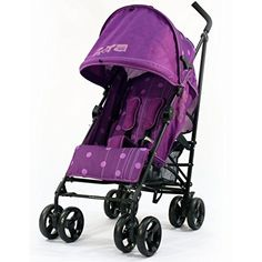 From 54.59 Zeta Vooom Stroller Buggy Pushchair ( Many Colours Available ) Inc Raincover (plum Dots)