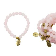 Beaded Bracelet - Matte Rose Quartz