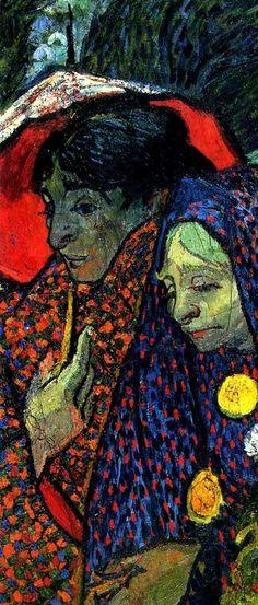 Vincent van Gogh, Ladies of Arles by Vincent Van Gogh (Detail) on ArtStack #vincent-van-gogh #art