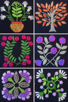 Hand embroidery Pattern for The Night Garden | dark fabric embroidery | hand embroidery sampler pattern | hand embroidery tutorial | hand embroidery flowers | embroidery on dark fabric | hand embroidery sampler design | floral hand embroidery designs | hand embroidery designs | hand embroidery tutorial beginner | #handembroiderytutorial | #handembroidery | #embroidery spring | #beginnerembroidery Embroidery Flowers Pattern, Embroidery Fabric, Modern Embroidery, Embroidery Hoop Art, Hand Embroidery Designs, Embroidery Ideas, Floral Embroidery, Flower Patterns, Embroidery Stitches Tutorial
