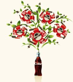 Coke Tin Cans Bloom by Mads Berg