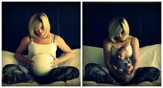 Brilliant idea for a photo with your baby - OC from a Reddit contributor. #pregnancy #photography