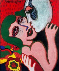 The Lovers - Corneille was an avant-garde Dutch artist, whose work was influenced by Miro and Klee, as well as African art. Cobra Art, Art Informel, Tachisme, Avant Garde Artists, Organic Art, Art Brut, Dutch Artists, Couple Art, Outsider Art