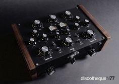 Discoteque N77. Custom built hi-end 2-channel mixer based on the circuitry of vintage Bozak & Urei mixers. That said, theyre apparently available in both IC & discrete models. http://superstereo.co.uk