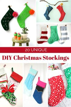 I found some creative DIY Christmas stockings that can be easily made. No need to be an expert DIY for most of these ideas. They're really simple but original ideas and you know handmade gifts are always a big hit so this can definitely be a fun project for the holidays.
