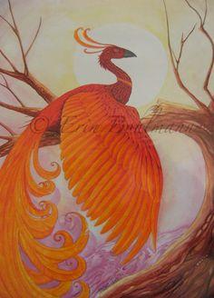 Phoenix print 12x18 by ErinAnnesArt on Etsy, $45.00