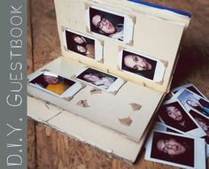 Poloroid wedding guest book ... loves it .. they can write a note beside thier picture #guestbook #poloroid
