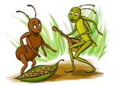 Grasshopper and the Ant First Day Of Summer, One Summer, Summer Days, Pictures Of Ants, Ant Crafts, Short Stories For Kids, Autumn Activities, Nature Wallpaper, Nursery