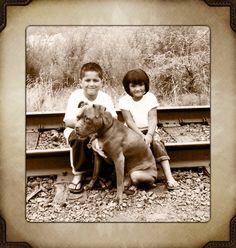 Pitties, Still the Nanny Dog:)