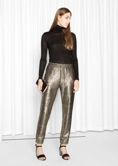 & Other Stories Golden Hits Trousers in Golden/Metallic