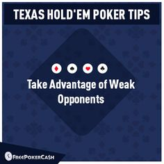 #PokerTips - Analyze who are weak and who are experienced opponents. Always remember, the weakness of your opponents will give you additional strength.