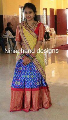 South Indian Sarees, Indian Lehenga, Indian Gowns, Baby Lehenga, Kids Lehenga, Half Saree Designs, Lehenga Designs, Lehenga Crop Top, Cheap Short Prom Dresses