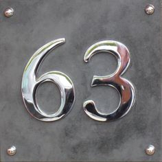 Modern large Slate and Chrome House number by AtlanticHardware, £40.00