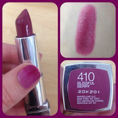 with ColorSensational Lipstick in Blissful Berry Brilliant Berry Lipstick Maybelline Mac Lipstick Shades, Maybelline Lipstick, Berry Lipstick, Purple Lipstick, Lipstick Colors, Lip Colors, Lipsticks, Makeup Dupes, Skin Makeup