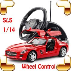 134.91$  Buy here  - New Year Gift 1/14 Mercedes SLS AMG RC Wheel Remote Control Car  Model Car Drift Machine Collective Edition Car Outdoor Present
