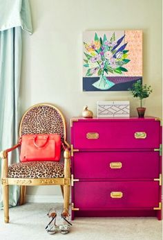 Super Chic Ikea Hacks Chic Ikea Hacks - This amazing ____ colored chest was once just a plain wood Ikea campaign chest!Chic Ikea Hacks - This amazing ____ colored chest was once just a plain wood Ikea campaign chest! Painted Furniture, Diy Furniture, Painted Dressers, Colorful Furniture, Painted Chest, Simple Furniture, Furniture Assembly, Street Furniture, Plywood Furniture
