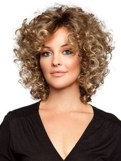 Short Sassy Curly Hairstyle | Cute Short Curly Haircuts For Fine Hair