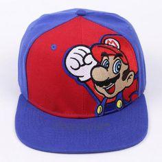 5c4cbf942fb Fashion Super Mario Bros Brand Flat Sun Hat Mushroom   Mario Cosplay Baseball  Caps Hip Hop Snapback for Men Boy
