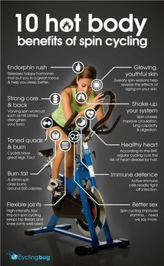 10 hot body BENEFITS OF SPIN CYCLING: http://thecyclingbug.co.uk/bugfeed/fixie/b/weblog/archive/2014/09/10/10-hot-body-benefits-of-spin-cycling.aspx?utm_source=Pinterest&utm_medium=Pinterest%20Post&utm_campaign=ad   #thecyclingbug #cycling #bike #spinning
