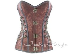 Hey, I found this really awesome Etsy listing at https://www.etsy.com/listing/175617978/steampunk-corset-bustiers-with-chain