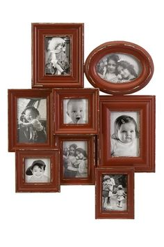 Get a bunch of old frames, spray paint them and glue them together to make a picture frame collage