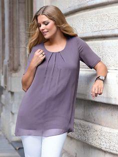 Blusen-Shirt mit 1/2-Arm