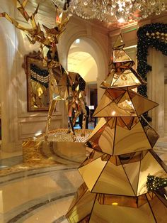 #Christmas #hotel #lobby @Mandy Bryant Dewey Seasons Hotel George V Paris by @Jeff Sheldon Sheldon Leatham !