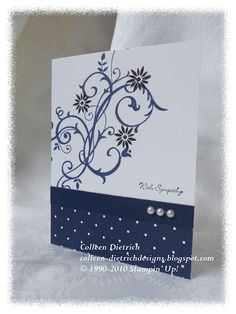Simple Sympathy card using Stampin' Up!
